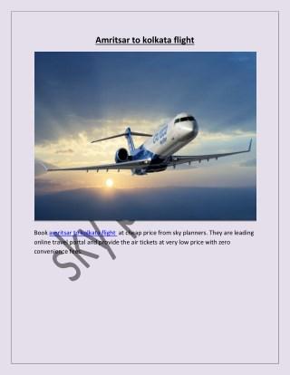amritsar to kolkata flight