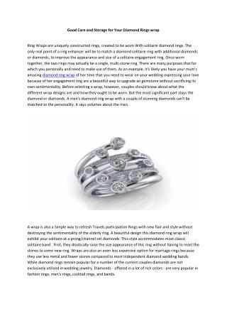 diamond ring wrap