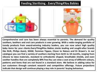 Feeding Sterilising - EveryThing4You Babies