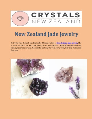 New Zealand jade jewelry
