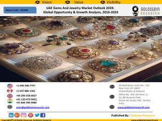 UAE Gems And Jewelry Market Outlook 2024: Global Opportunity & Growth Analysis, 2016-2024