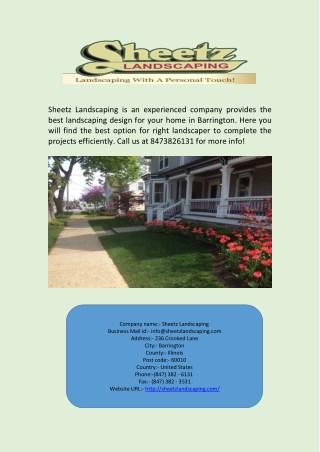Barrington Landscapers and Landscaping Design
