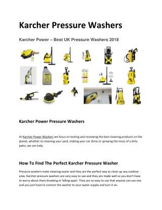 Best Karcher Pressure Washer Accessories Online 2018