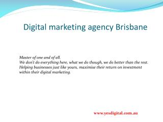Digital marketing agency Brisbane