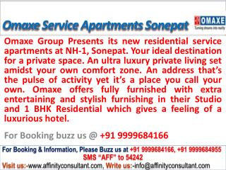 Omaxe City Service Apartments @09999684166 Nh 1 Sonepat
