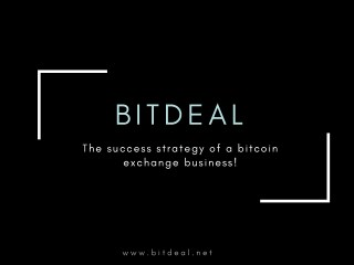Best Bitcoin Exchange Script | Bitdeal