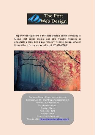 Maine Best Website Design Company - Theportwebdesign.com
