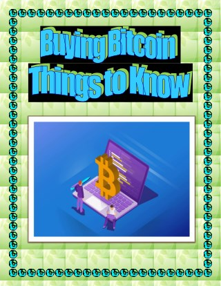 Buying Bitcoin – Things to Know