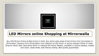 LED Mirrors online Shopping at Mirrorwalla