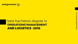 10 Top Universities Which Teach Operations Management