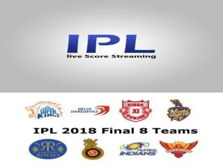 Watch IPl 2018 Live Streaming on DD National Live Streaming
