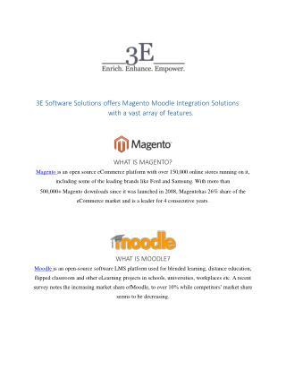 Magento Moodle Integration   3E Software Solutions