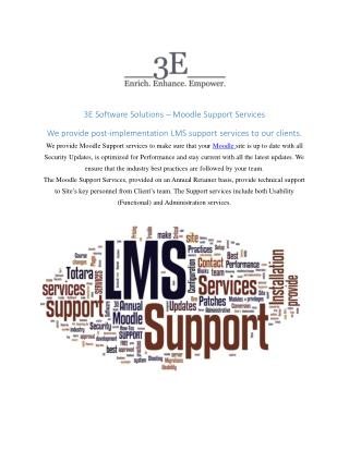 Moodle support services | 3E Software Solutions
