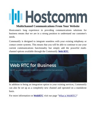Multichannel Communications From Your Website