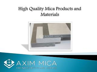 High Quality Mica product and Mica Parts Manufacturer and Suppliers – Axim Mica