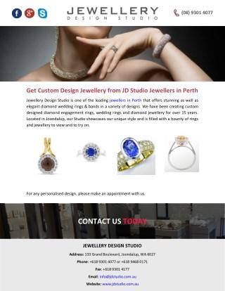 Get Custom Design Jewellery from JD Studio Jewellers in Perth