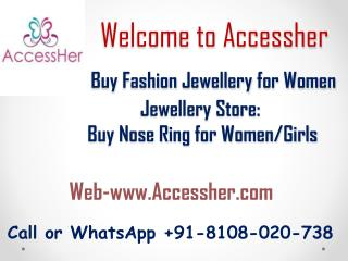 Buy Nose Rings Online, Nose Pins & Studs Online at Best Prices In India