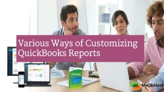 Various Ways of Customizing QuickBooks Reports