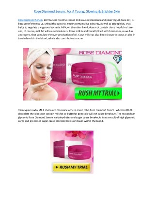 Rose Diamond Serum: For A Young, Glowing & Brighter Skin