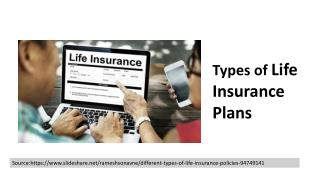 Different Types of Life Insurance Plans