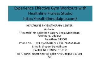 Experience Effective Gym Workouts with Healthline Fitness Studio