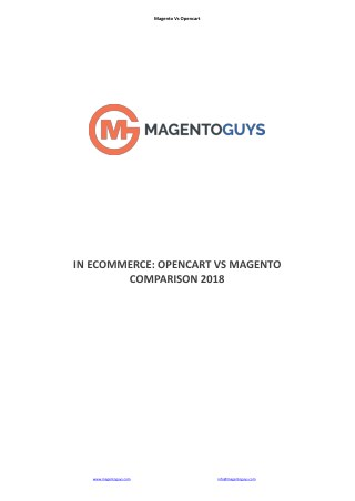 Complete Magento Vs Opencart Comparison in Ecommerce 2018