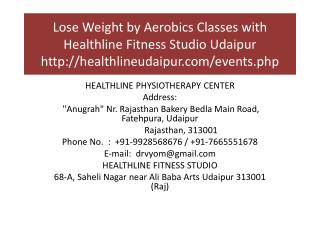 Lose Weight by Aerobics Classes with Healthline Fitness Studio Udaipur