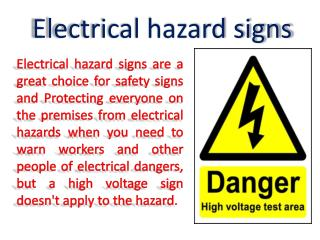 Electrical | Warning | Safety Signs