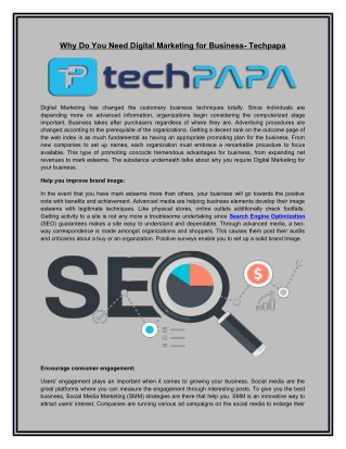 Search Engine Optimization | Digital Marketing-techpapa