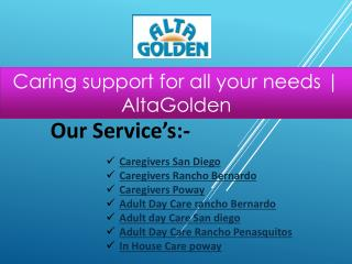 Caring support for all your needs | AltaGolden