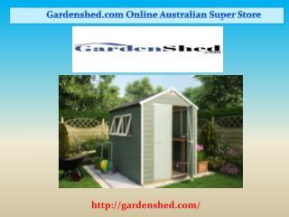 Garden Sheds, Timber Sheds, Absco Sheds Online | Gardenshed.com