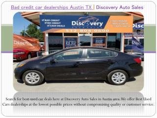 Bad Credit Car Dealerships Austin TX