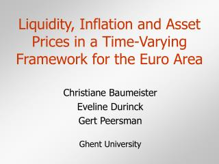 Liquidity, Inflation and Asset Prices in a Time-Varying Framework for the Euro Area