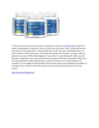 Ph375 Guide - Best Supplement For Weight Loss