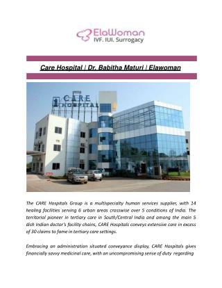 Care Hospital   Dr. Babitha Maturi   Elawoman