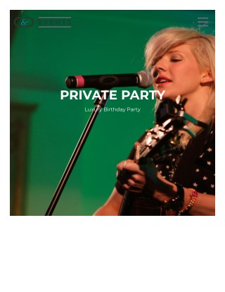 PRIVATE PARTY Luxury Birthday Party - G&D Events