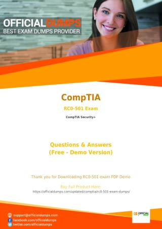 RC0-501 Exam Questions - Are you Ready to Take Actual CompTIA RC0-501 Exam?