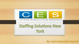 Choose Best Placement Agency For Staffing Solutions New York