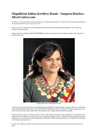 Handcrafted Silver Jewellery - Designer Gemstone Jewelry Online India