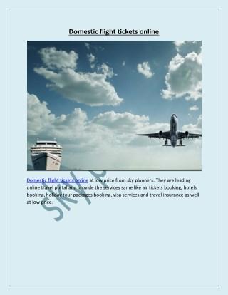 Domestic flight tickets online