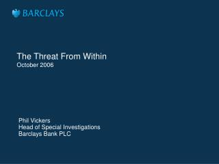 The Threat From Within October 2006
