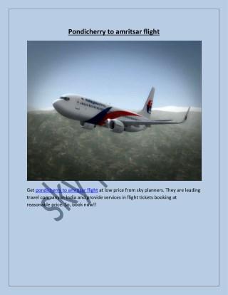 pondicherry to amritsar flight