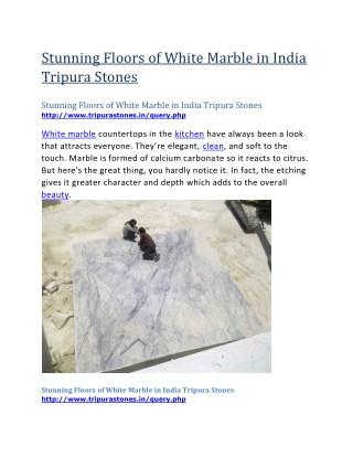 Stunning Floors of White Marble in India Tripura Stones