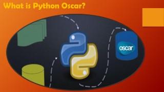 What is Python Oscar?
