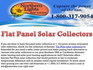 Flat Panel Solar Collectors