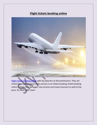 Flight tickets booking online