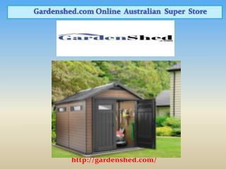 Shed & Garden Sheds, Absco Sheds Online | Gardenshed.com