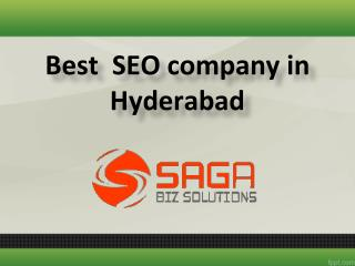 Best  SEO company in Hyderabad,  SEO services in Hyderabad -  Saga Bizsolutions