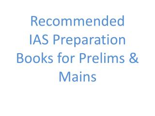 Best Books to Prepare for IAS exam