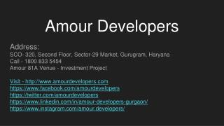 Amour Developers Gurugram
